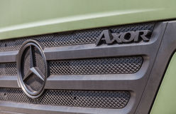 German mercedes benz axor, stands under military roof Stock Photography