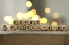 German Merry Christmas background Stock Photography