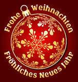 German Merry Christmas and Happy New Year background Stock Photography