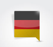 German message bubble illustration design. Over a white background Royalty Free Stock Photos