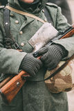 German military ammunition of a German soldier at World War II. Royalty Free Stock Photos