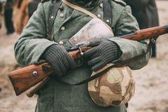 German military ammunition of a German soldier at World War II. Stock Photos
