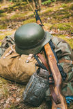 German military ammunition of World War II on Royalty Free Stock Photography