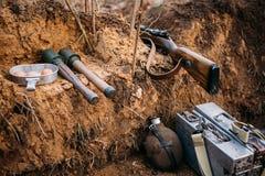 German military ammunition of World War II on Royalty Free Stock Image
