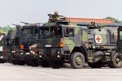 German military army convoy Stock Photo