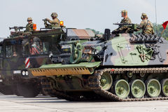 German military army convoy Stock Image