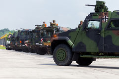 German military army convoy Royalty Free Stock Image
