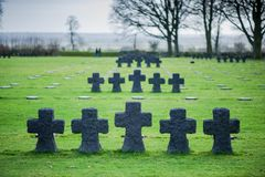 German Military Cemetery At La Cambe, Normandy, France. Royalty Free Stock Photo