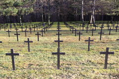 German Military Cemetery Stock Photo