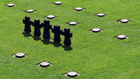 German military cemetery La Cambe Normandy Royalty Free Stock Images