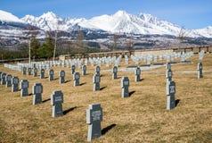 German military cemetery from World war II, Vazec - Slovakia Royalty Free Stock Photos