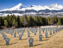 German military cemetery from World war II, Vazec - Slovakia Royalty Free Stock Photo