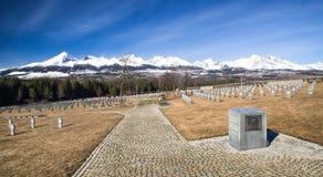 German military cemetery from World war II, Vazec - Slovakia Stock Photo