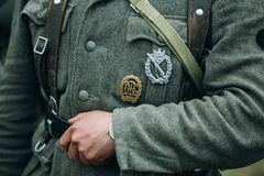 German military decoration on the uniform of a Stock Image