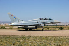 German military Eurofighter Typhoon fighter jet airplane Royalty Free Stock Images