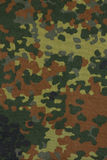 German military flecktarn camouflage fabric Royalty Free Stock Image
