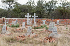 German military graveyard in the Waterberg Plateau National Park Stock Images