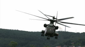 German Military Helicopter Start stock video footage