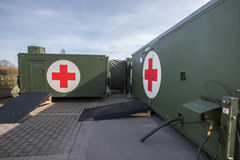German military hospital container Royalty Free Stock Photo