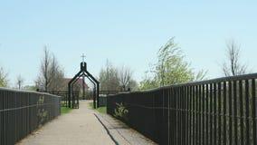 German military memorial cemetery stock video footage