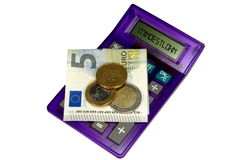 German minimum wage and calculator Royalty Free Stock Images