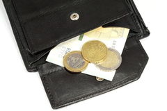 German minimum wage and money Royalty Free Stock Images