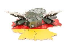 German missile defence system concept, 3D rendering Stock Image