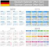 2015 German Mix Calendar Mon-Sun. On white background Vector Illustration