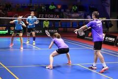 German mix doubles - badminton Stock Photography