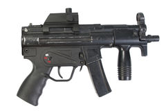 German modern submachine gun MP5 isolated Royalty Free Stock Photography