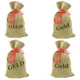 German money bags Stock Photography