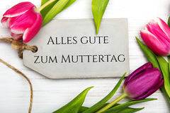 German Mother`s day card with word Muttertag Royalty Free Stock Photo