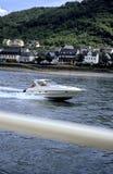 german motorówkę rzeka Ren Zdjęcia Royalty Free