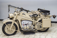 The German motorcycle in a museum Stock Image