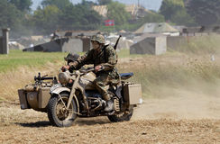 German motorcycle and sidecar Royalty Free Stock Image