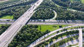 German motorways seen from above Stock Photos