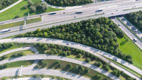 German motorways seen from above Stock Images