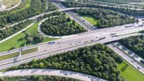 German motorways seen from above Royalty Free Stock Photography
