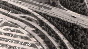 German motorways seen from above. Aerial view of German highways, drone view Royalty Free Stock Photography