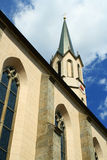 German mountain church. The gothic mountain church in the Germany stock photography