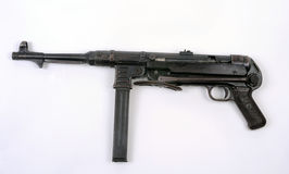 German WW2 Mp40 Schmeisser SMG. The famous German machine pistol MP 40 Schmeisser sub machine gun SMG of WW11 Royalty Free Stock Photos