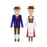 German national costume. Illustration of national dress on white background Stock Image