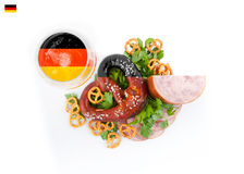 German national dish. Flag colors. Royalty Free Stock Photography