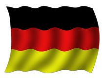 German national flag. In a wavy shape Royalty Free Stock Photos