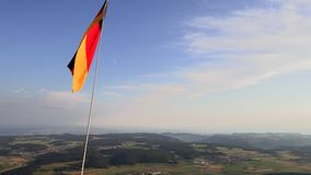 German national flag while ballooning stock video