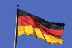 German national flag in Berlin. German national flag in the Government sector of  Berlin Royalty Free Stock Photo