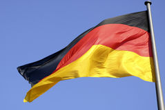 German national flag in Berlin. German national flag in the Government sector of  Berlin Royalty Free Stock Image
