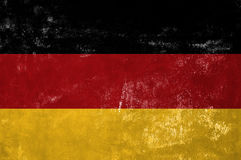 German National Flag. Germany - German National Flag on Old Grunge Texture Background royalty free stock image