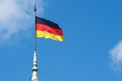 German national flag Royalty Free Stock Photo