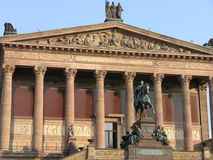 German National Gallery Berlin. Front view of the German national gallery (Alte Nationalgalerie) in Berlin, Germany Royalty Free Stock Photo